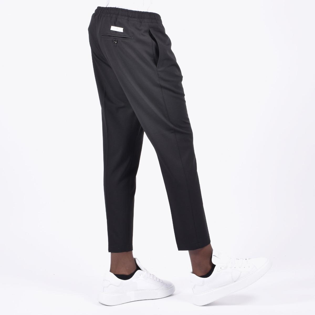Pantalone vita elasticizzata - Nero