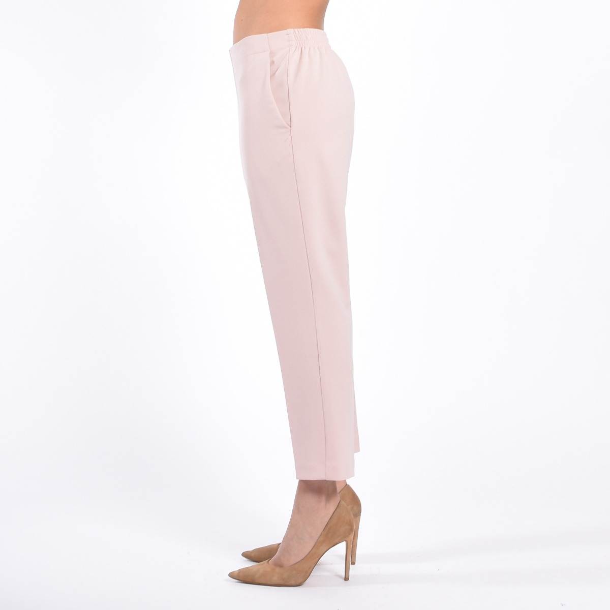 Pantalone elastico- Cipria