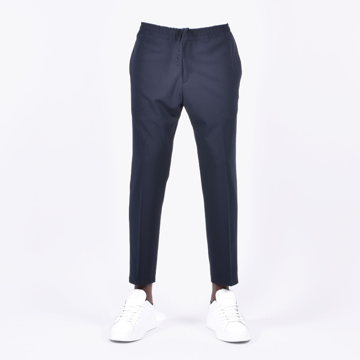 Pantalone vita elasticizzata - Blu