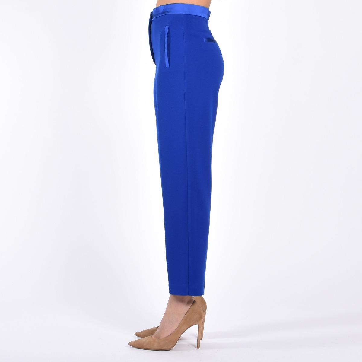 Pantalone vita raso- Bluette