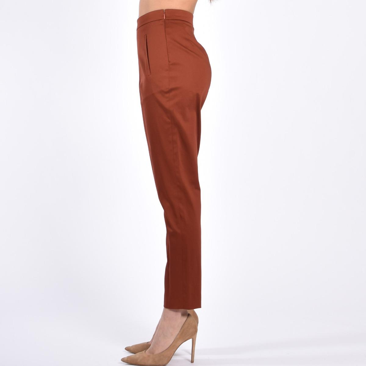 Pantalone fondo zip- Tegola