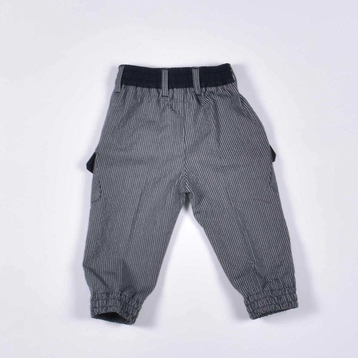 Pantaloni gessati - Blu