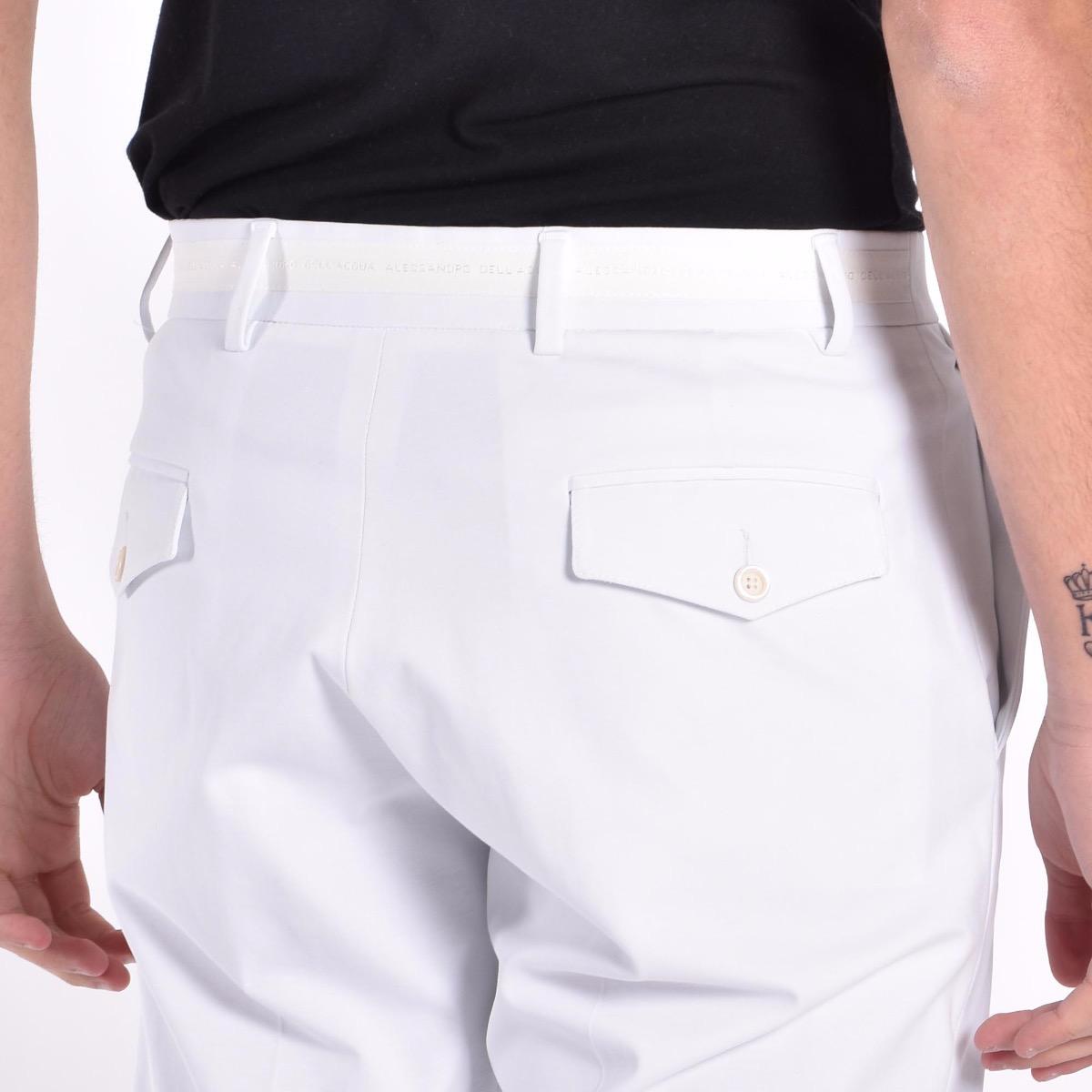 Pantalone fascia logata - Bianco