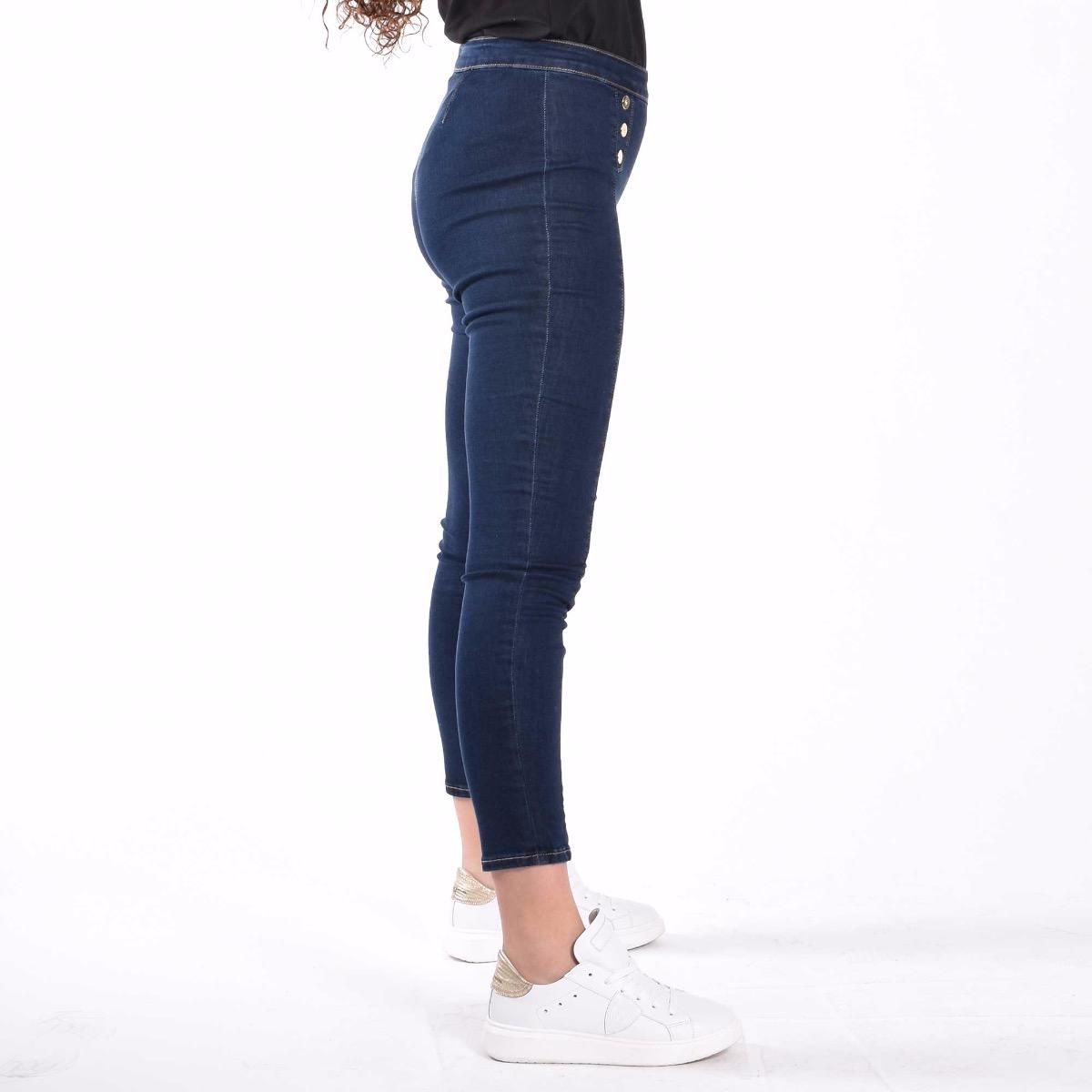 Jeans con bottoni - Denim
