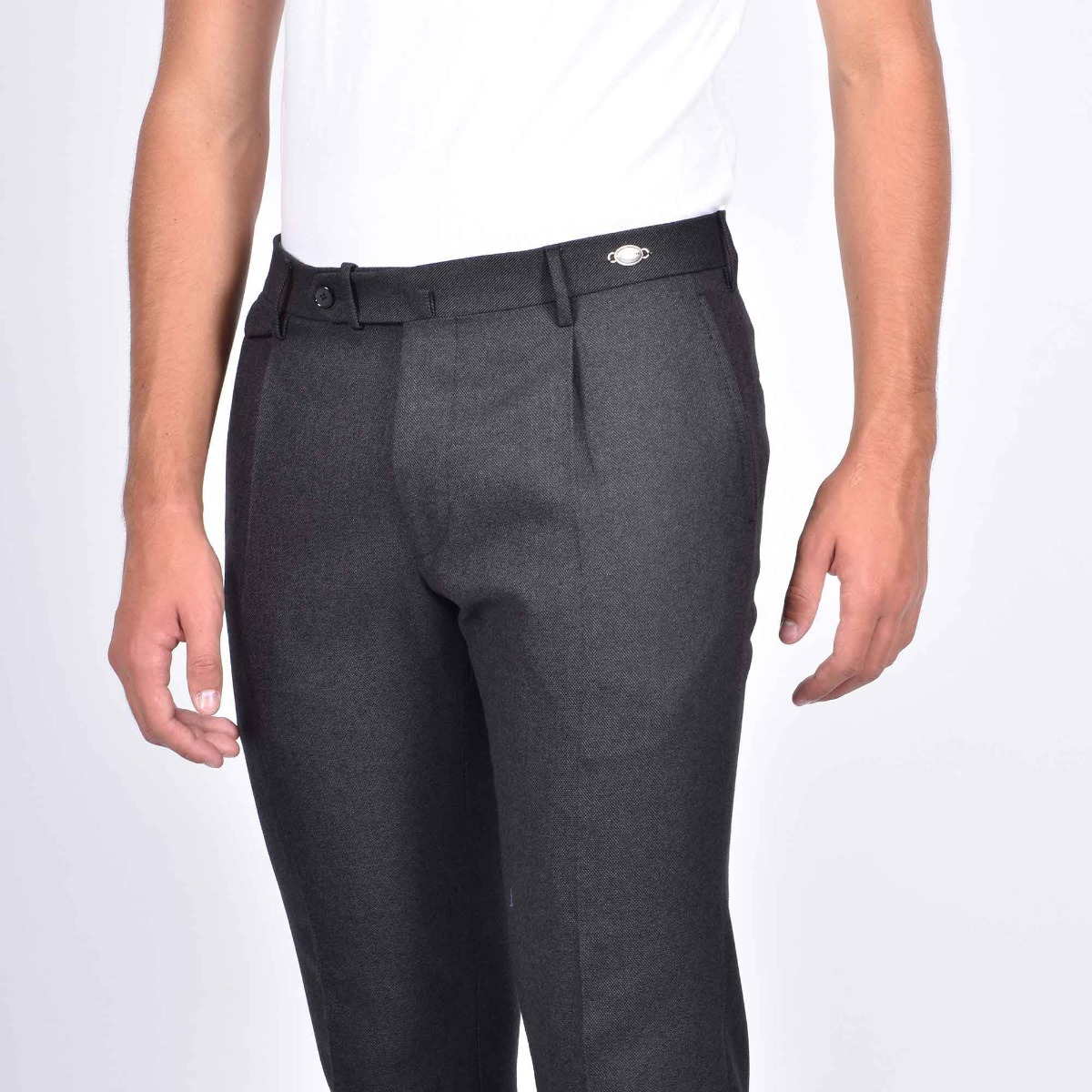 Pantalone tasca america - Grigio scuro