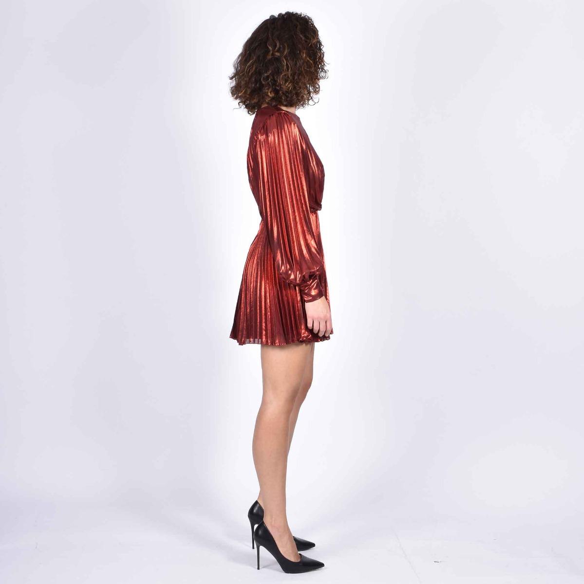 Plis dress jami - Rosso