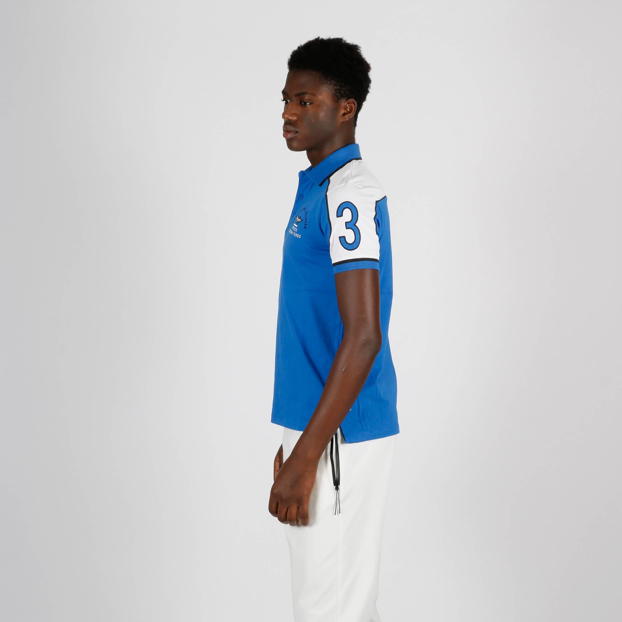 Polo banda spalle - Bluette