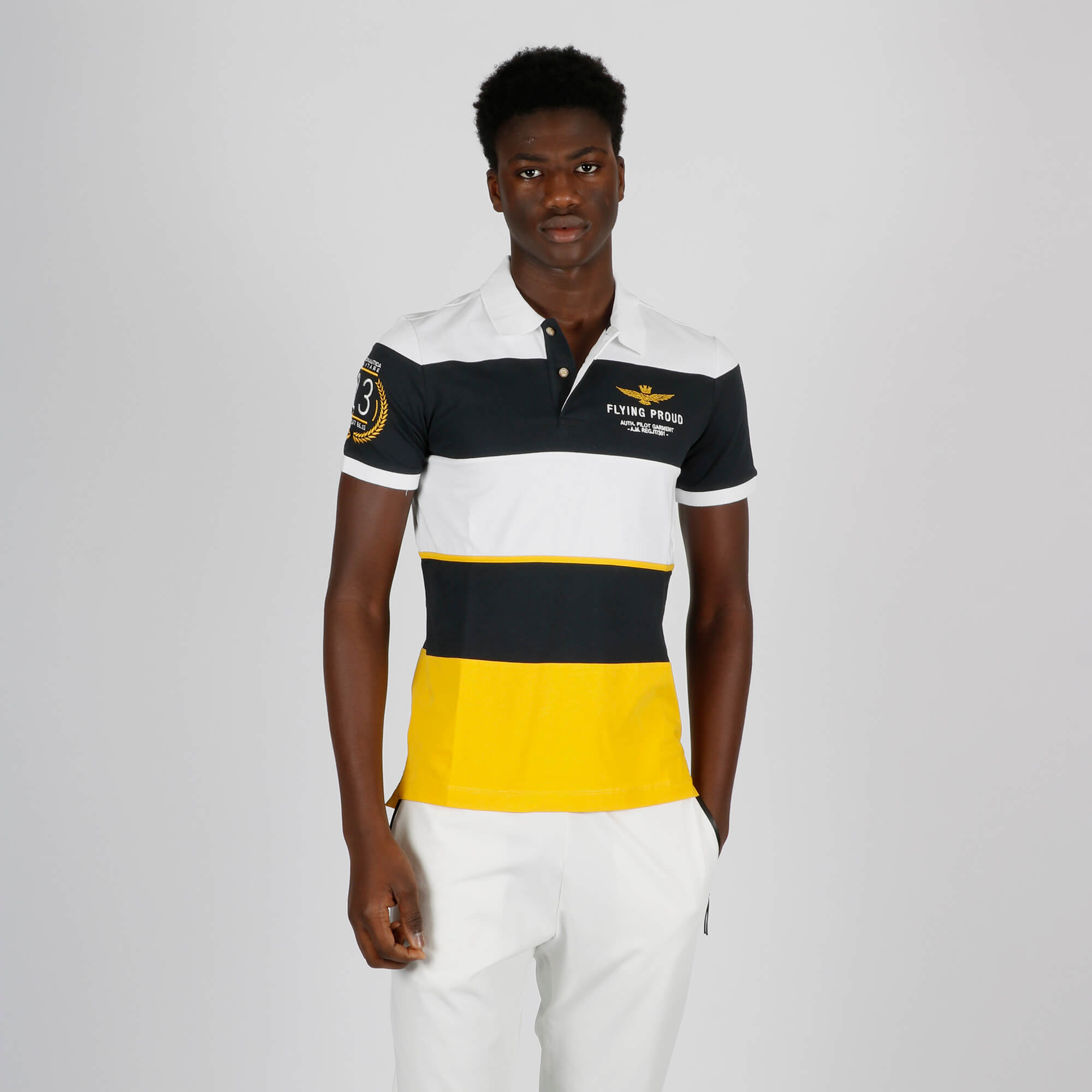 Polo flying stampa righe - Multicolor
