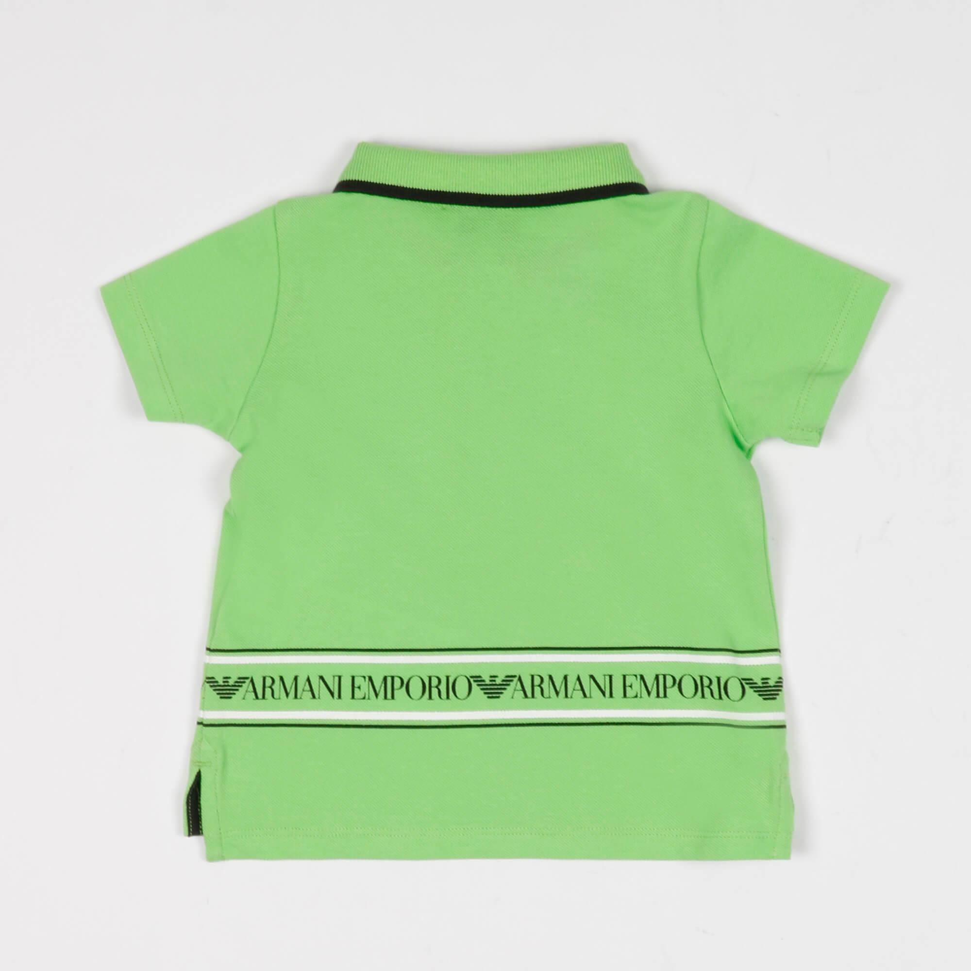 Polo neonato banda logo - Verde