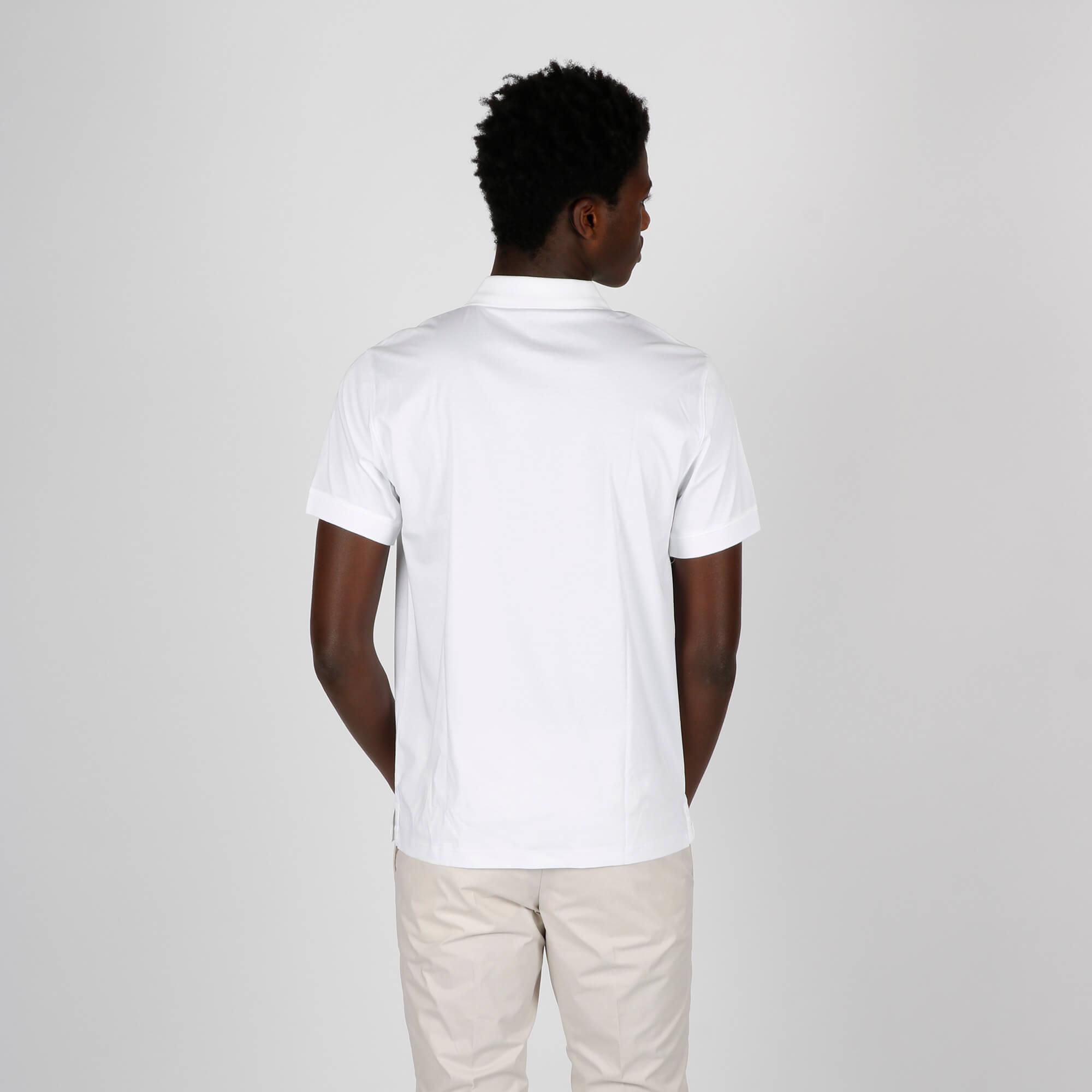 Polo loghino tono su tono - Bianco