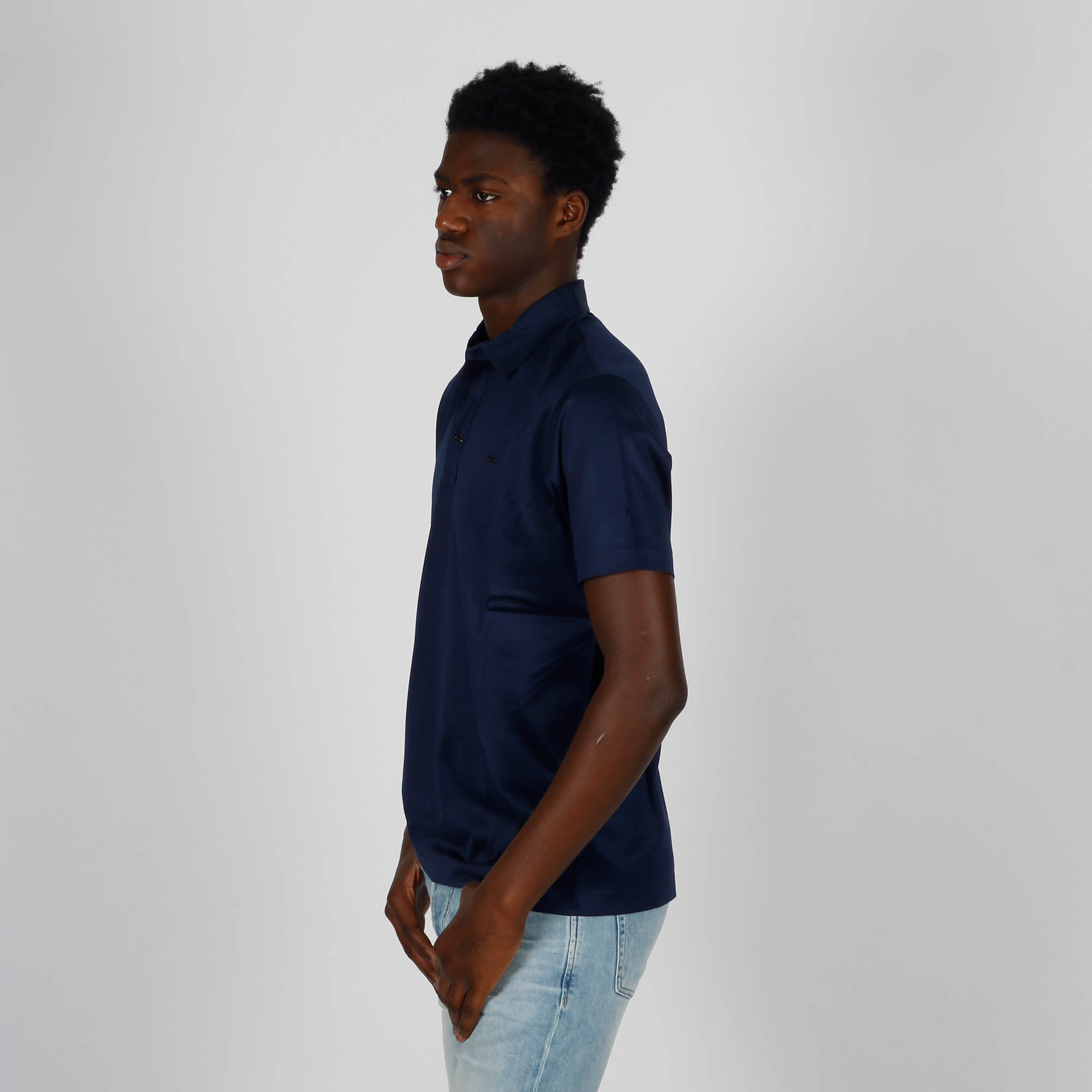 Polo loghino- Blu scuro