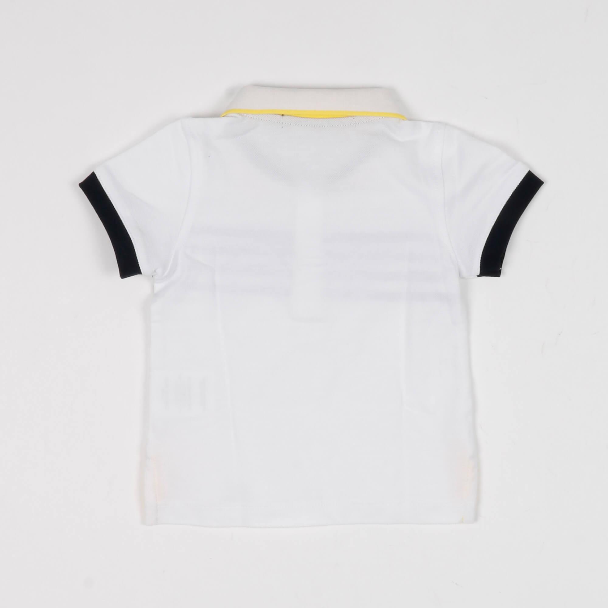 Polo neonato ancora logo- Bianco