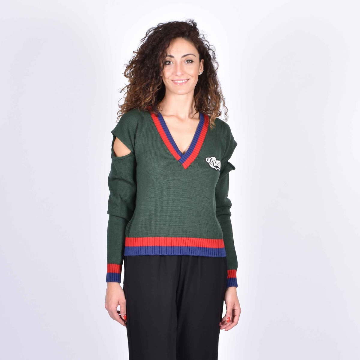 Pullover logo - Verde
