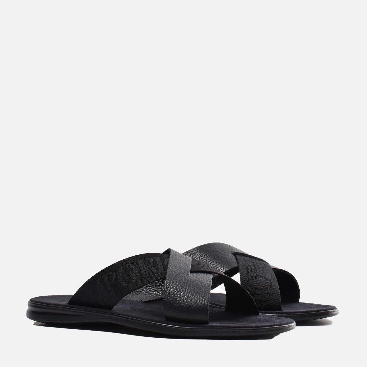 Sandalo ad incrocio- Nero