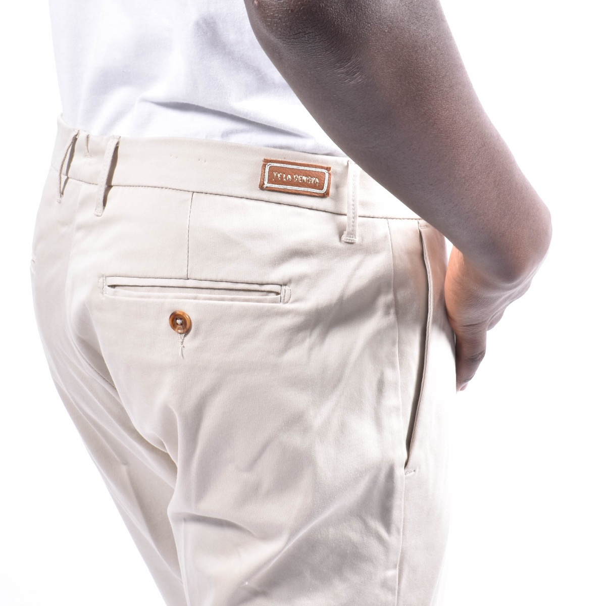 Pantalone con tasca americana - Avorio