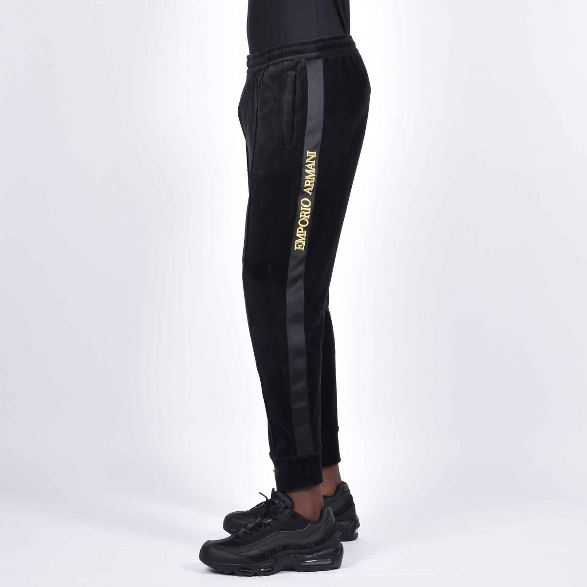 Pantalone tuta ciniglia - Nero