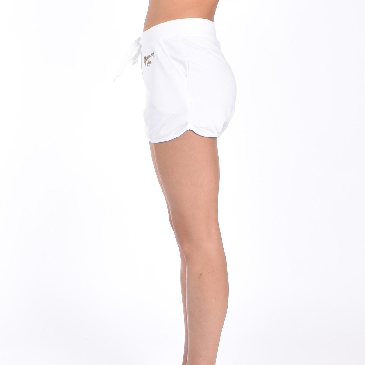 Shorts logo oro- Bianco