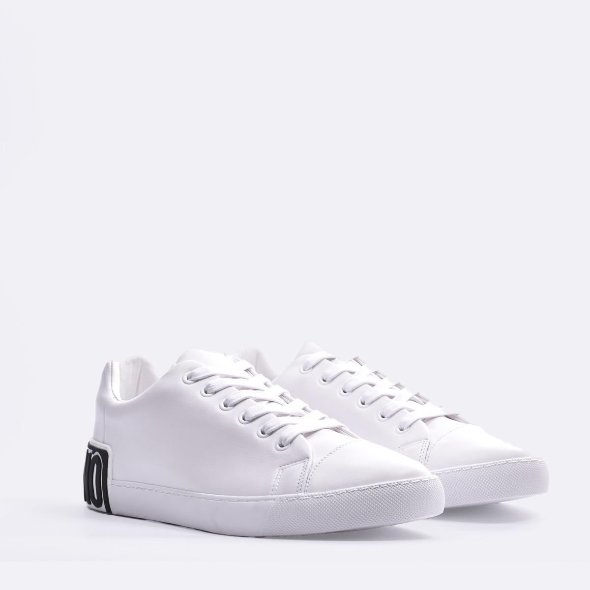 Sneakers logo dietro - Bianco