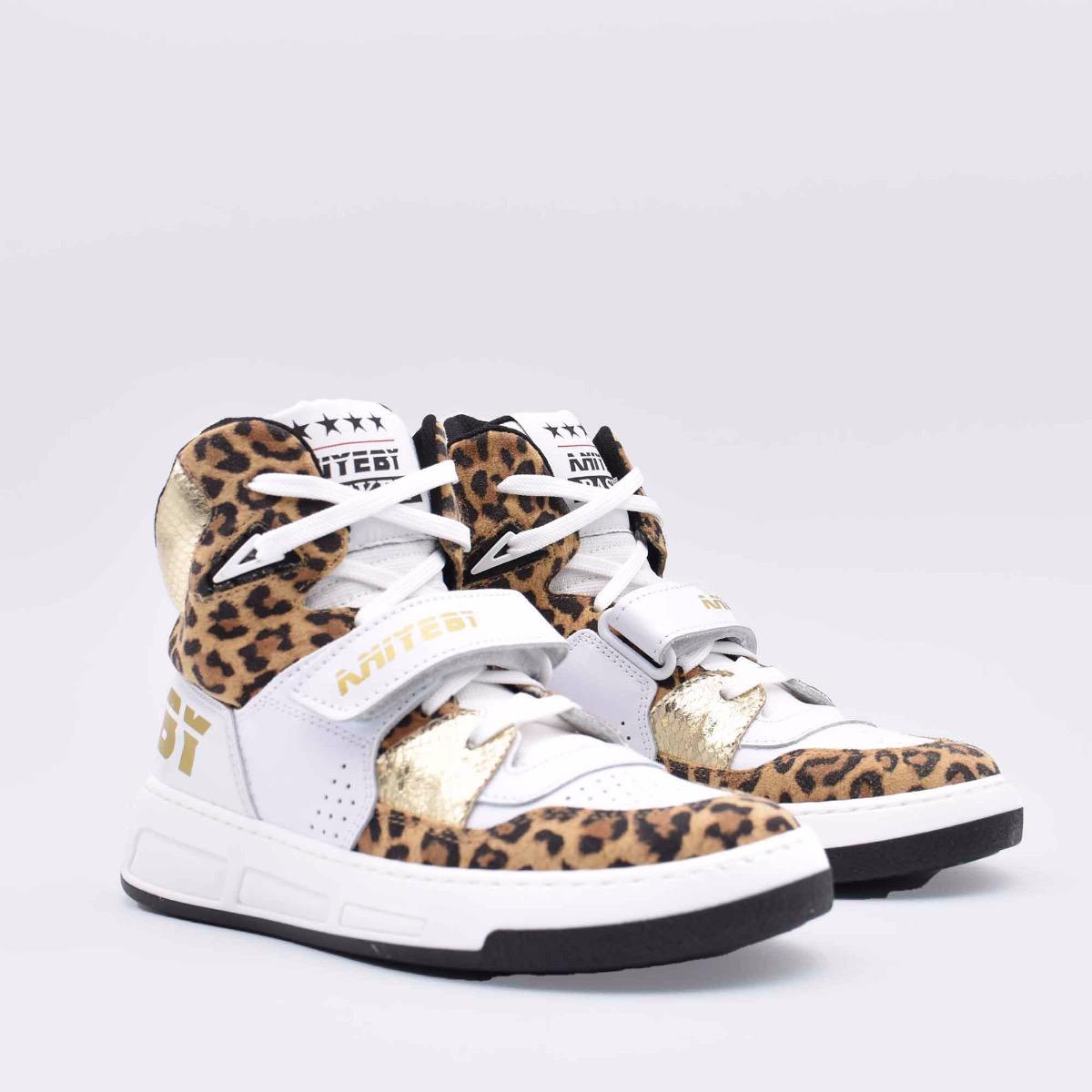 Aniye basket leopard - Bianco