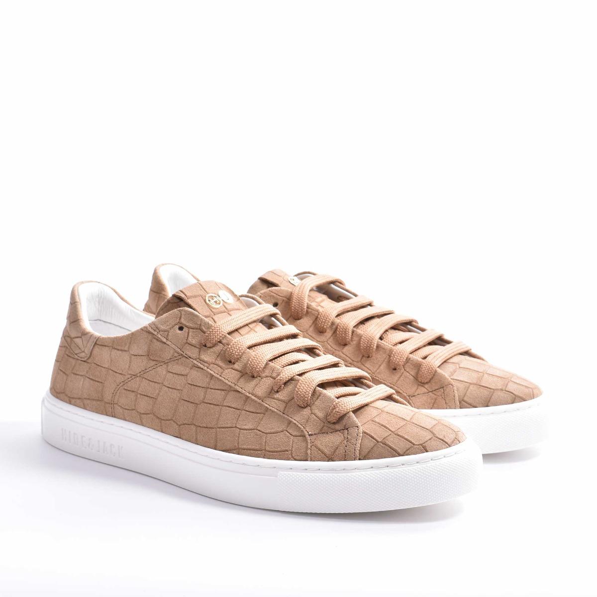 Sneakers essence croco suede - Cammello