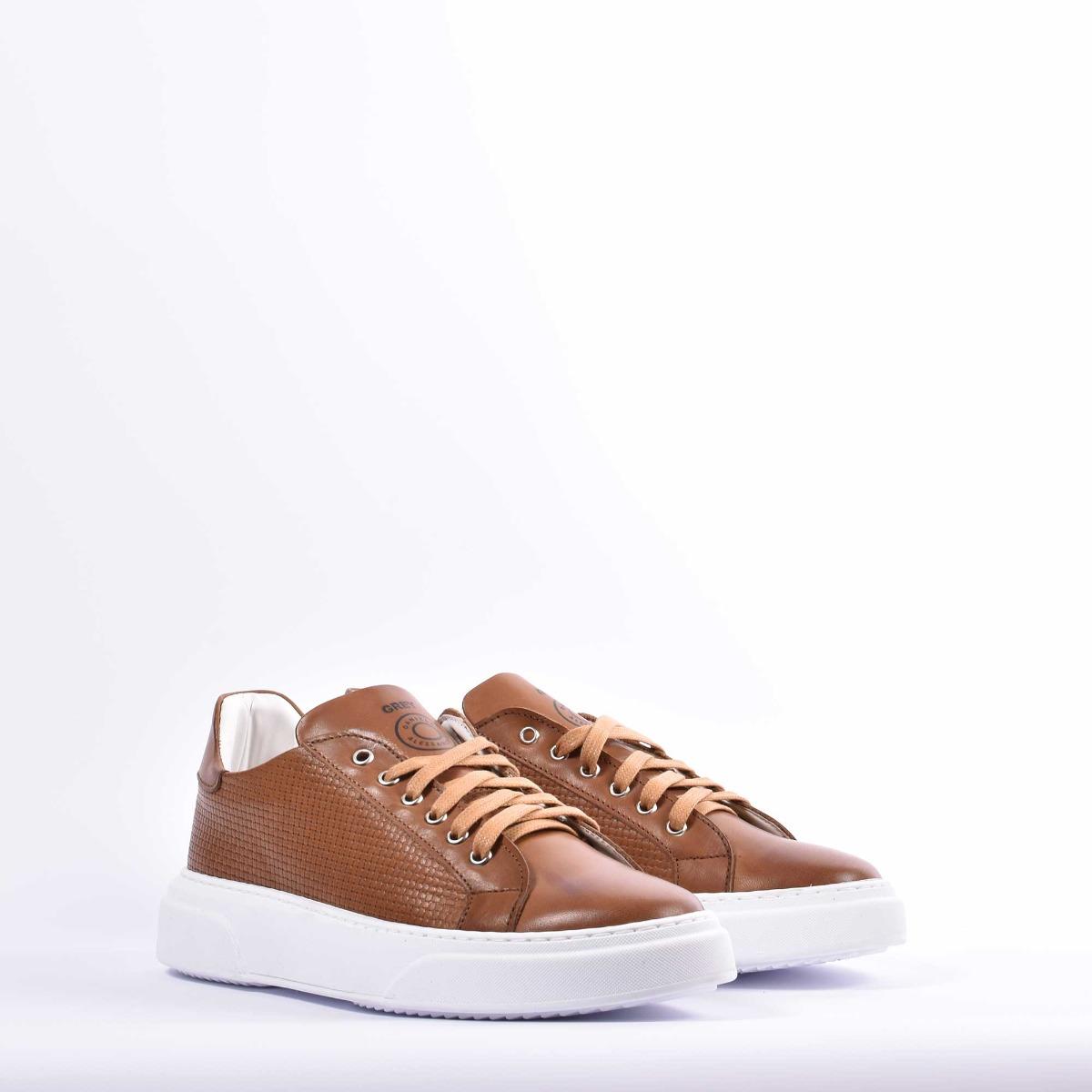 Sneakers ginnica bassa- Cuoio
