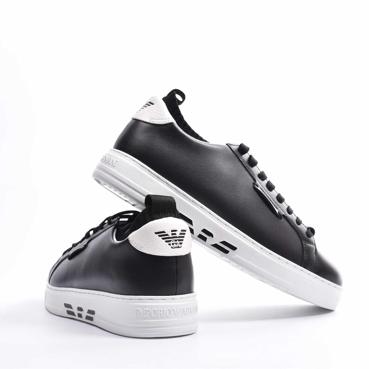 Sneakers inserto maglia - Nero