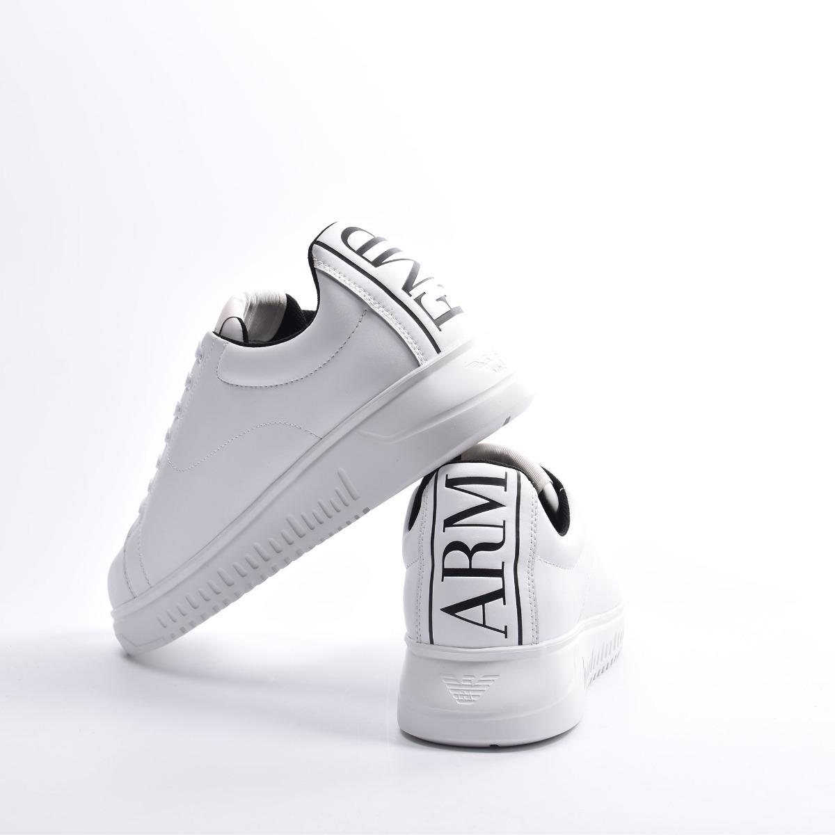 Sneakers logo dietro- Bianco