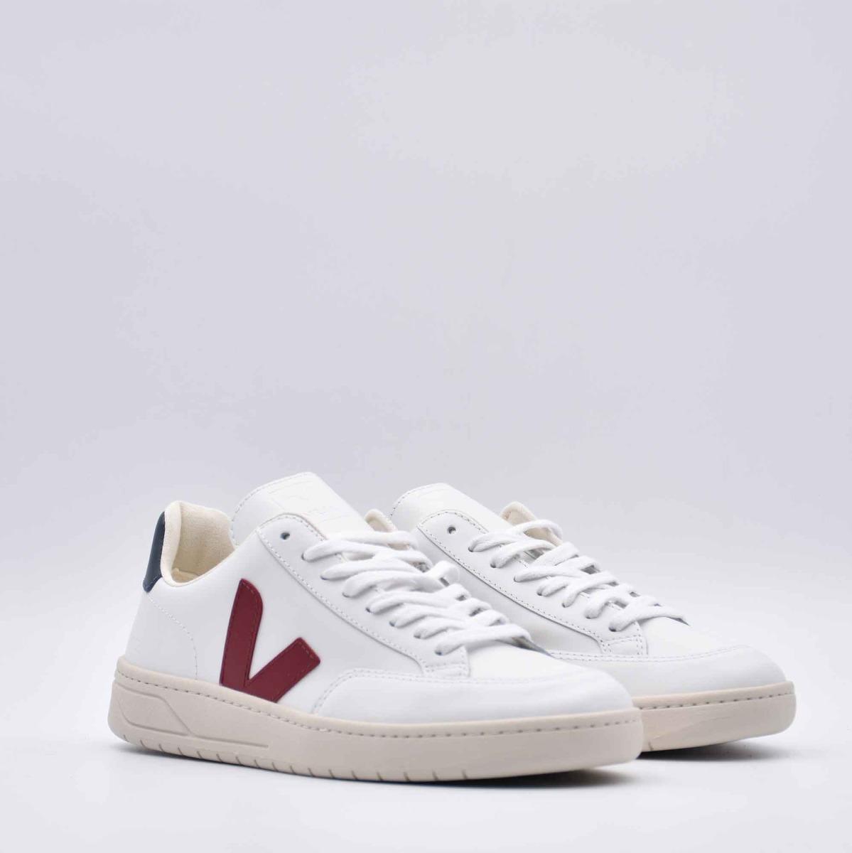 Sneakers marsala v-12- Bianco