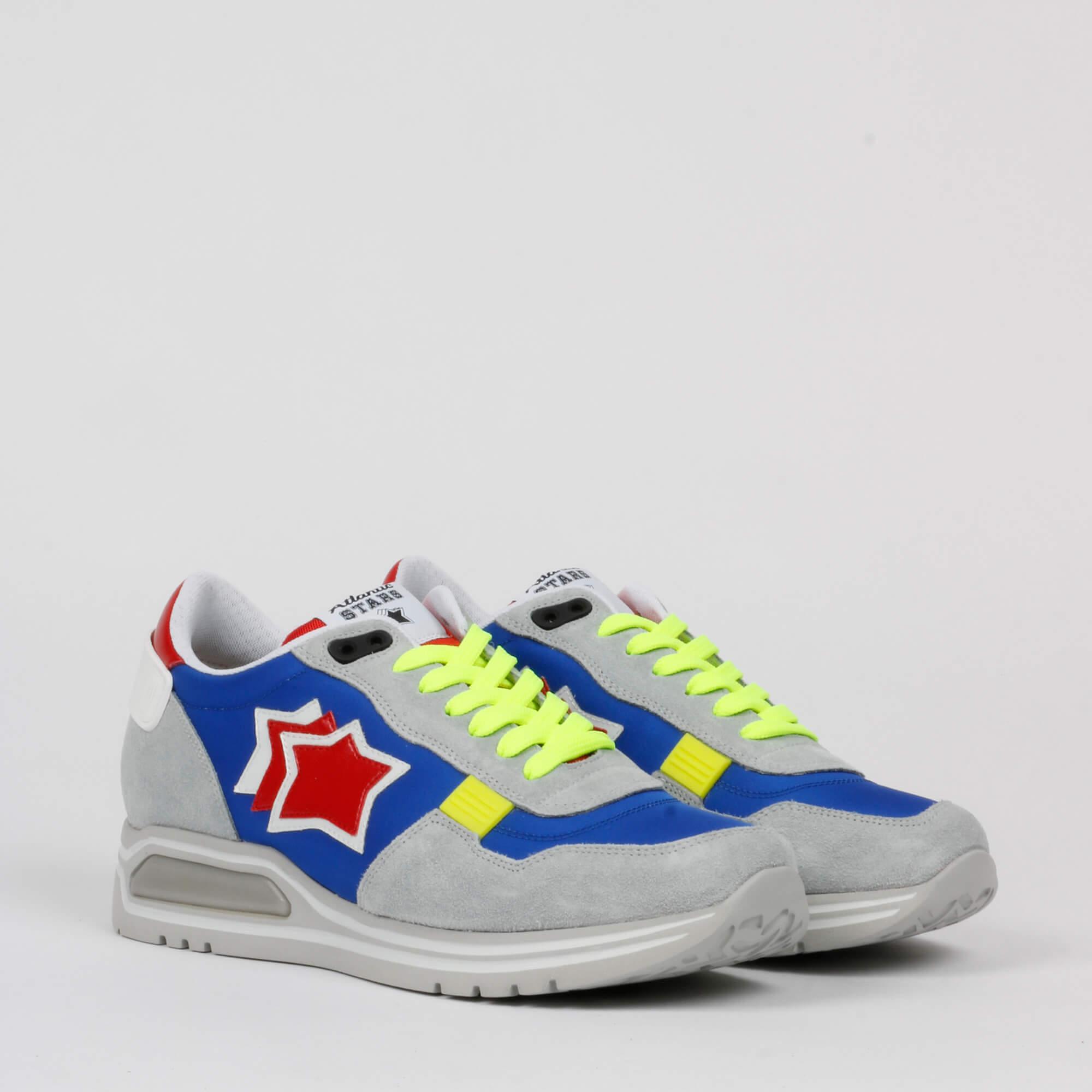 Sneakers lacci fluo - Grigio chiaro