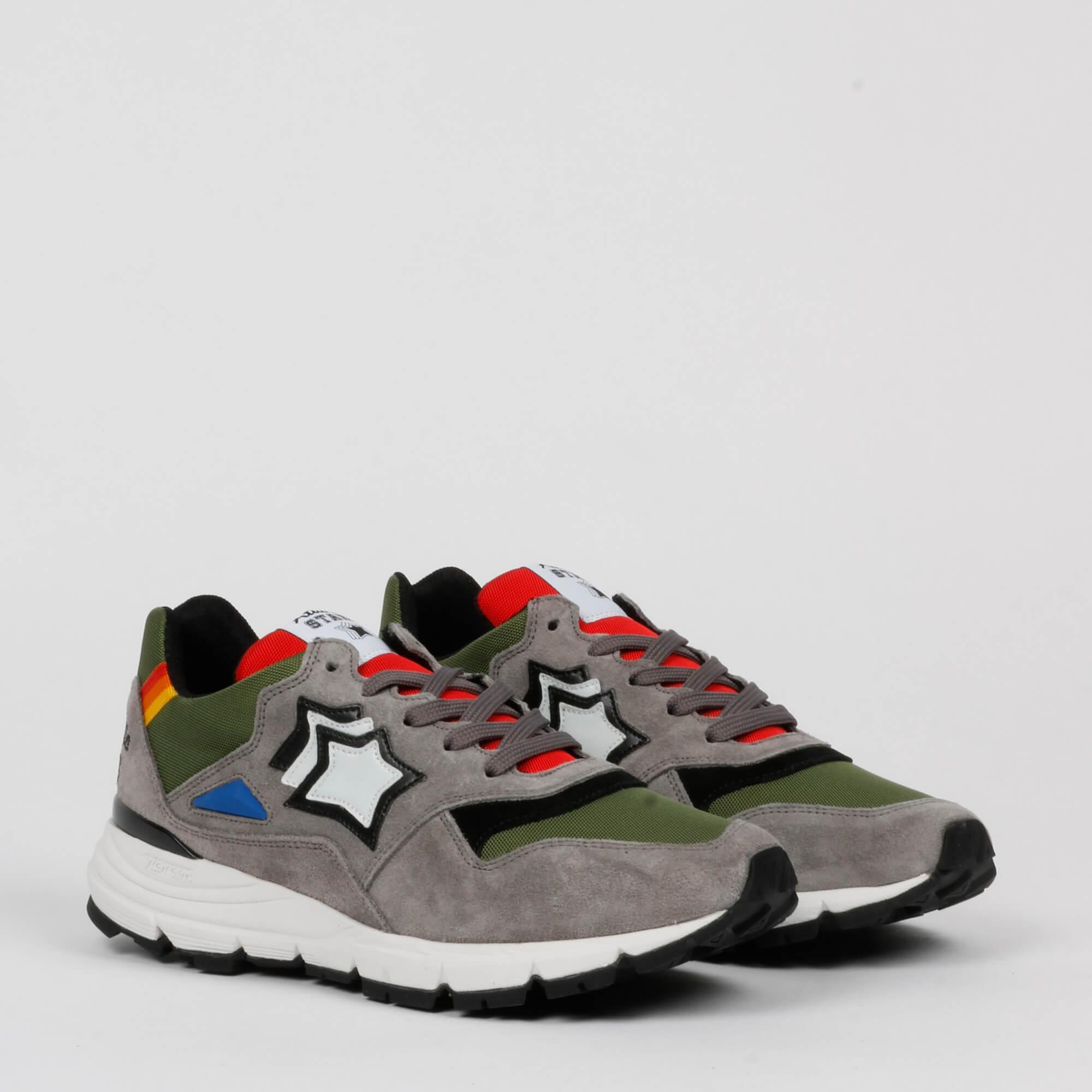 Sneakers polaris - Grigio/verde