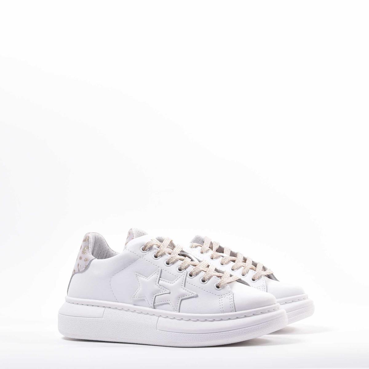 Sneakers princess macu - Bianco/oro