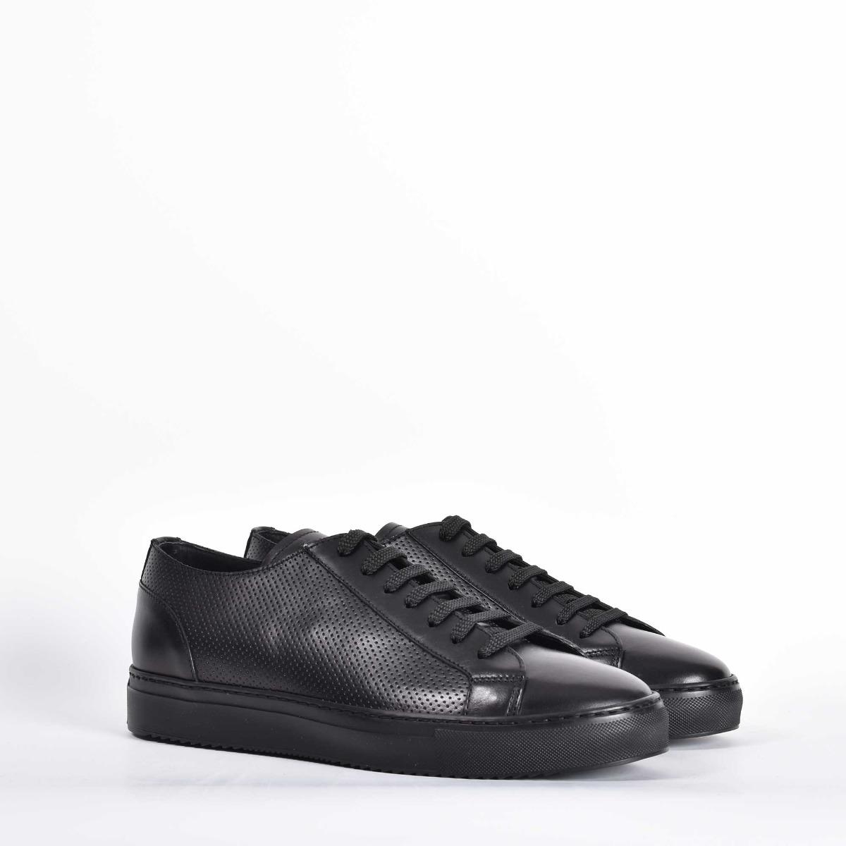 Sneakers punzonata - Nero