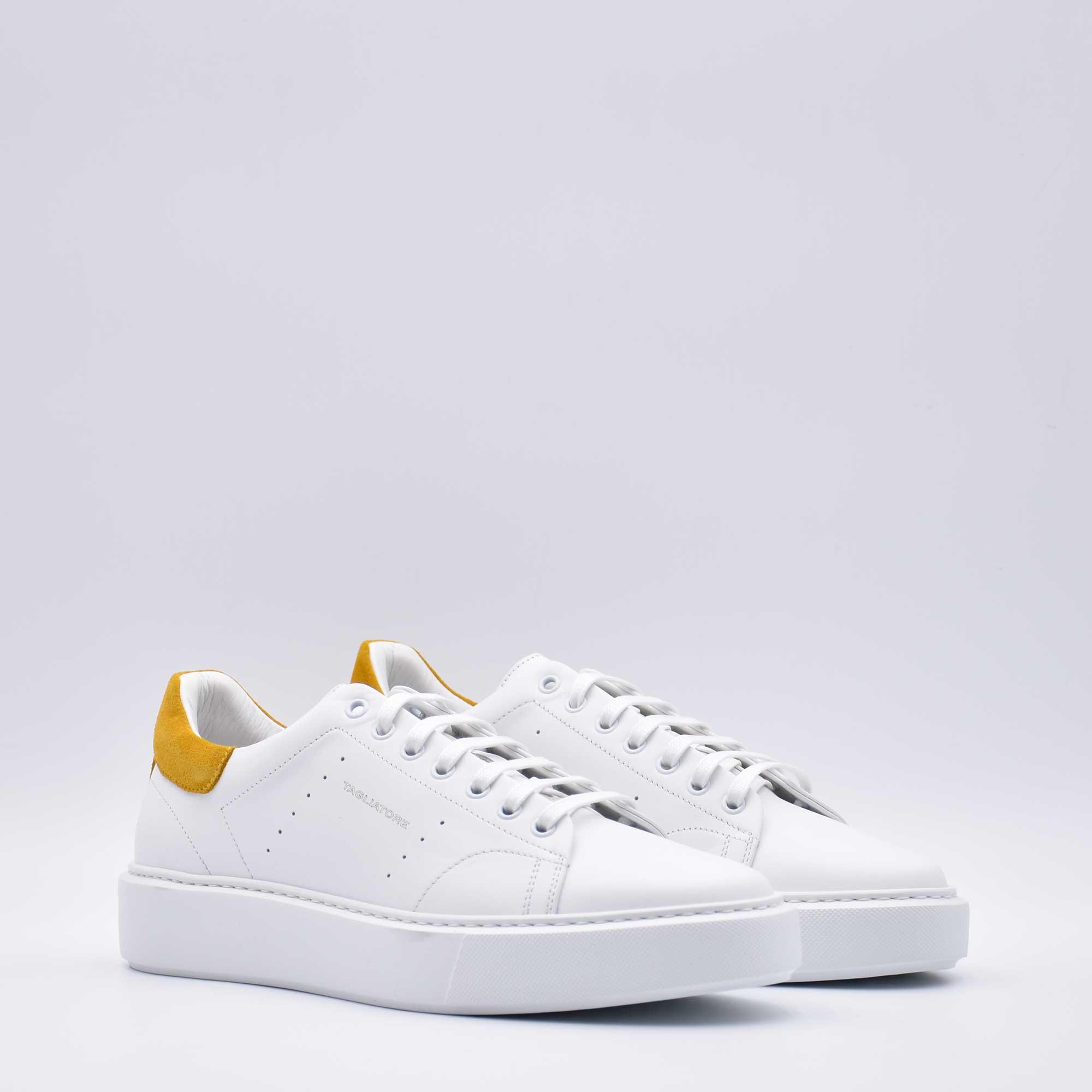 Sneakers camoscio giallo - Bianco