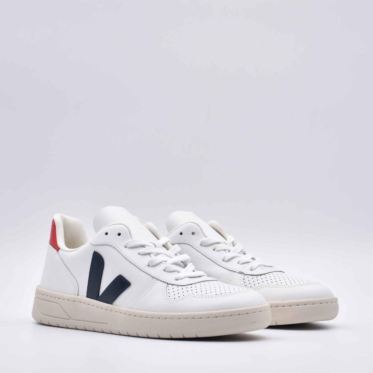 Sneakers v-10 - Bianco/ blu