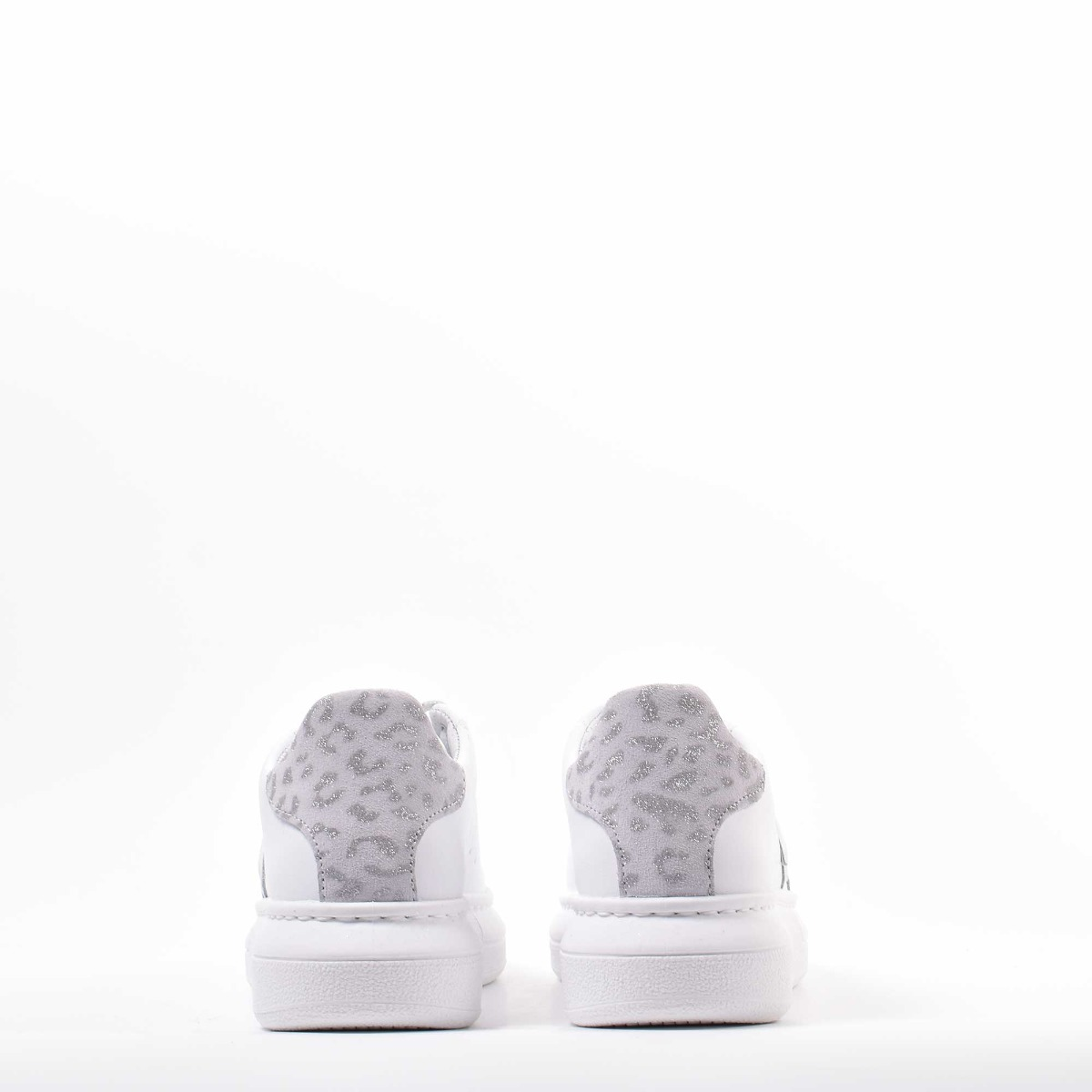 Sneakers princess maculata - Bianco/silver