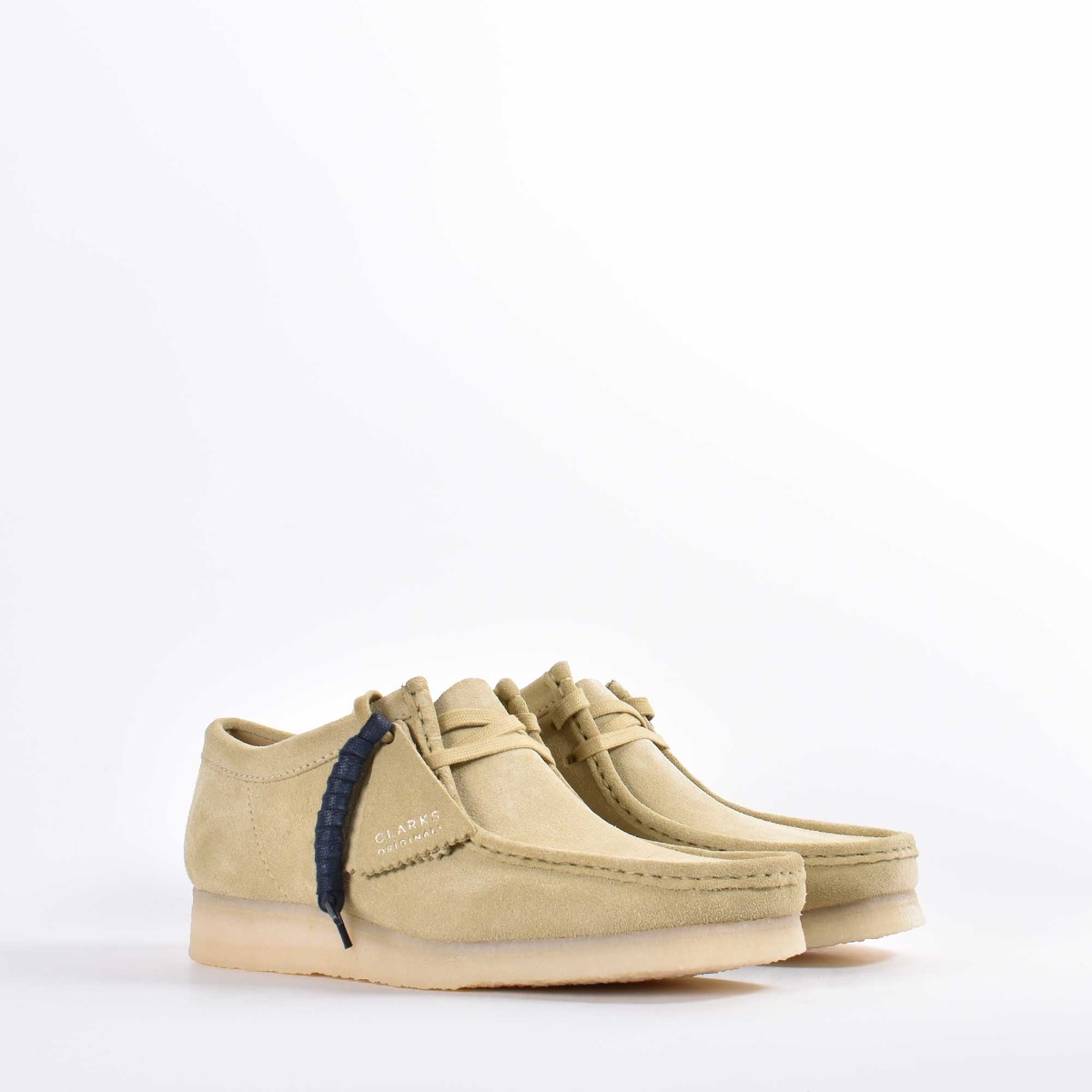 Wallabee stringata - Beige