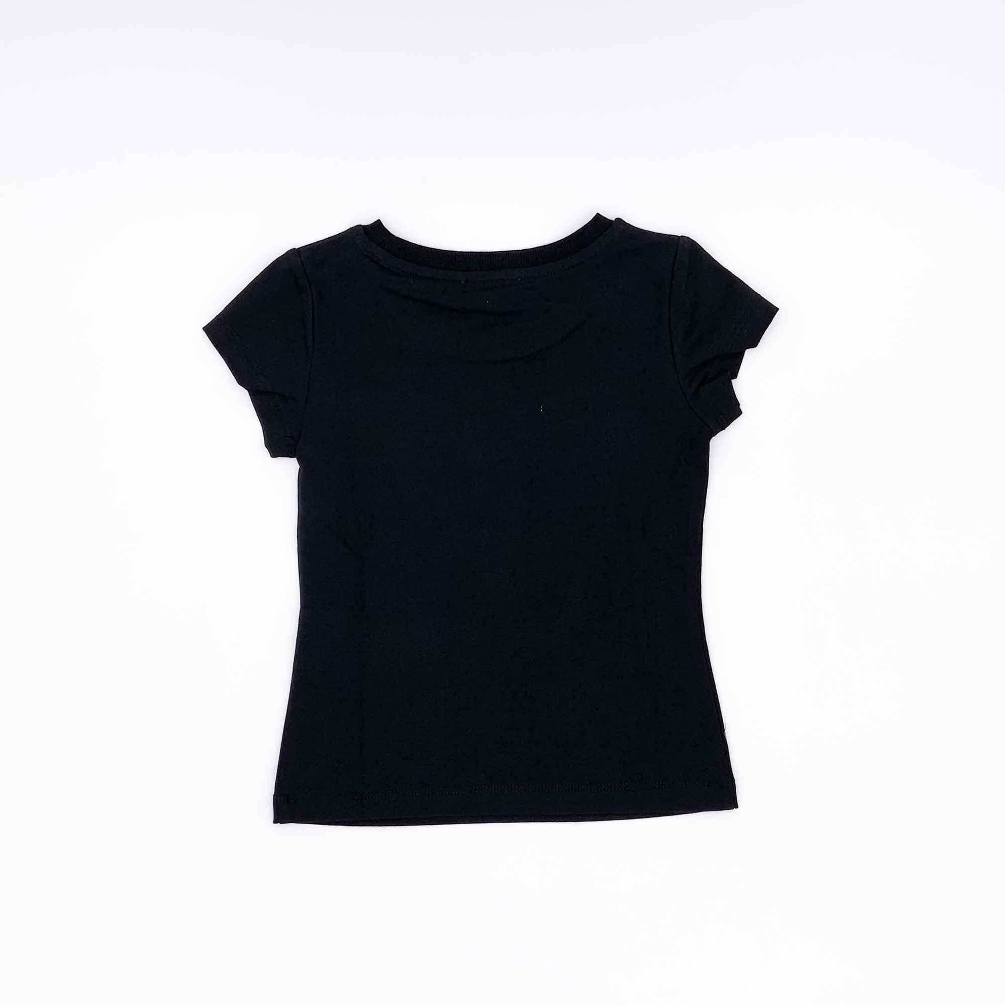 T-shirt logo strass - Nero