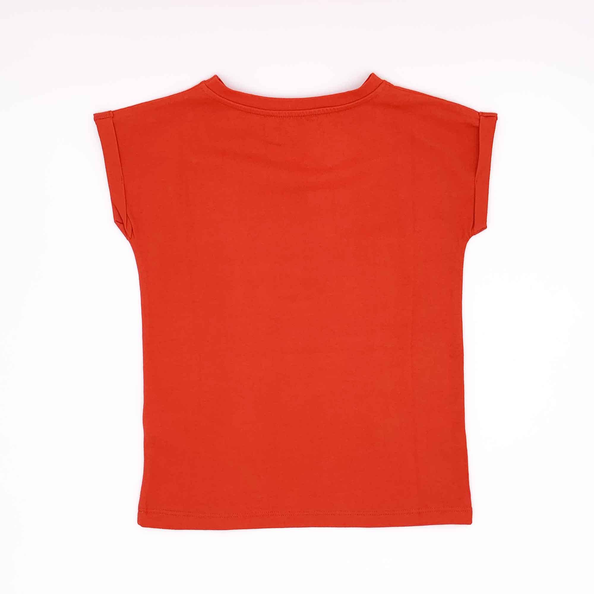 T-shirt logo lettering paillettes - Rosso
