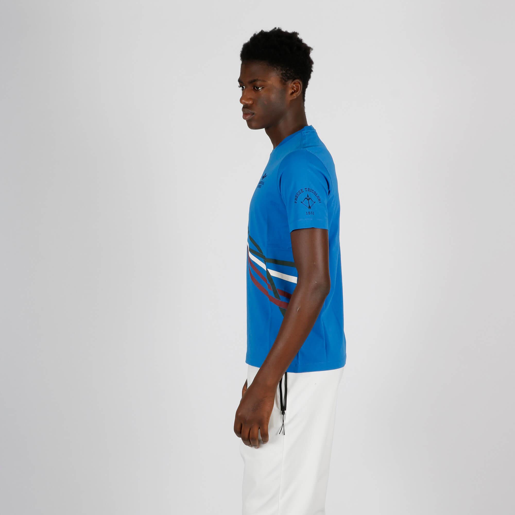 T-shirt frecce tricolore - Bluette