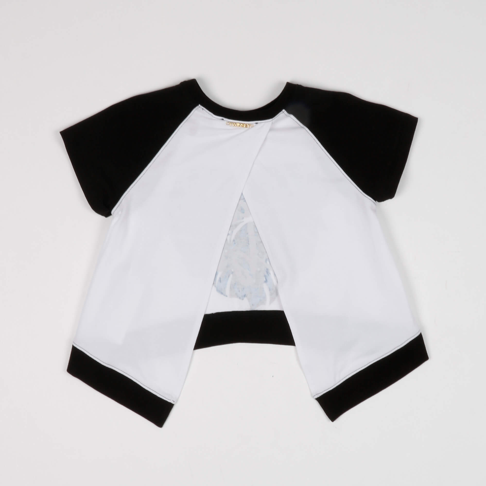 T-shirt stampa tropical - Bianco
