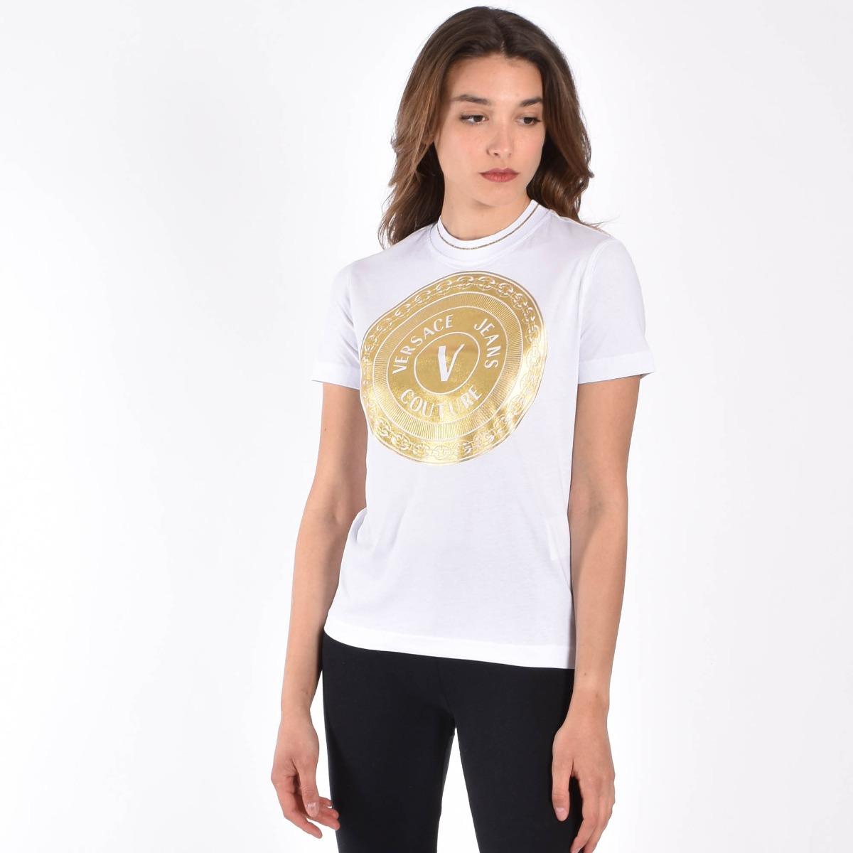 T-shirt circle logo- Bianco