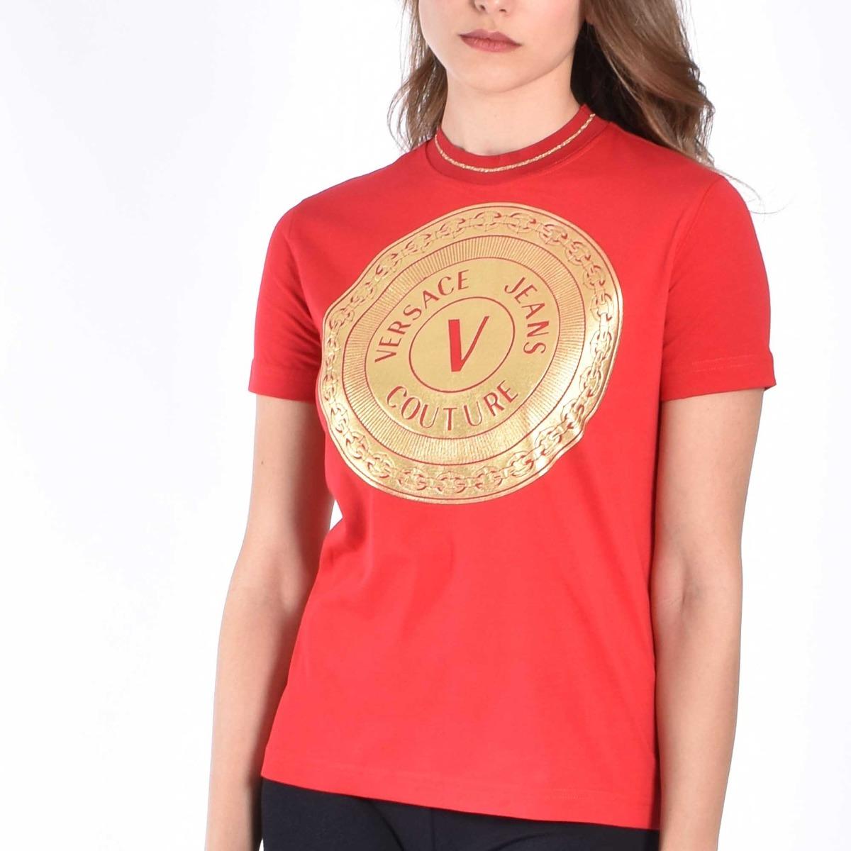 T-shirt circle logo- Rosso