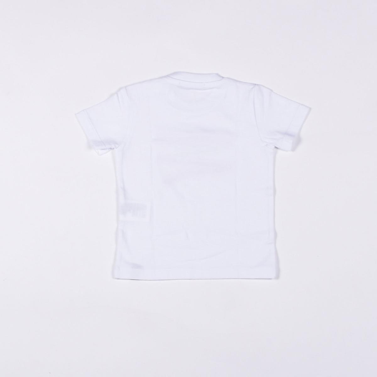 T-shirt con logo evidenziato - Bianca
