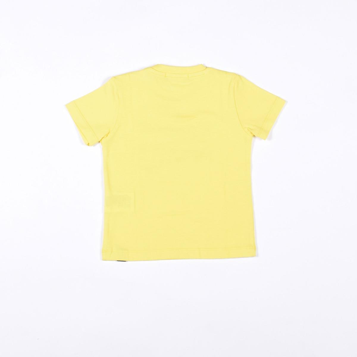 T-shirt con logo evidenziato - Gialla