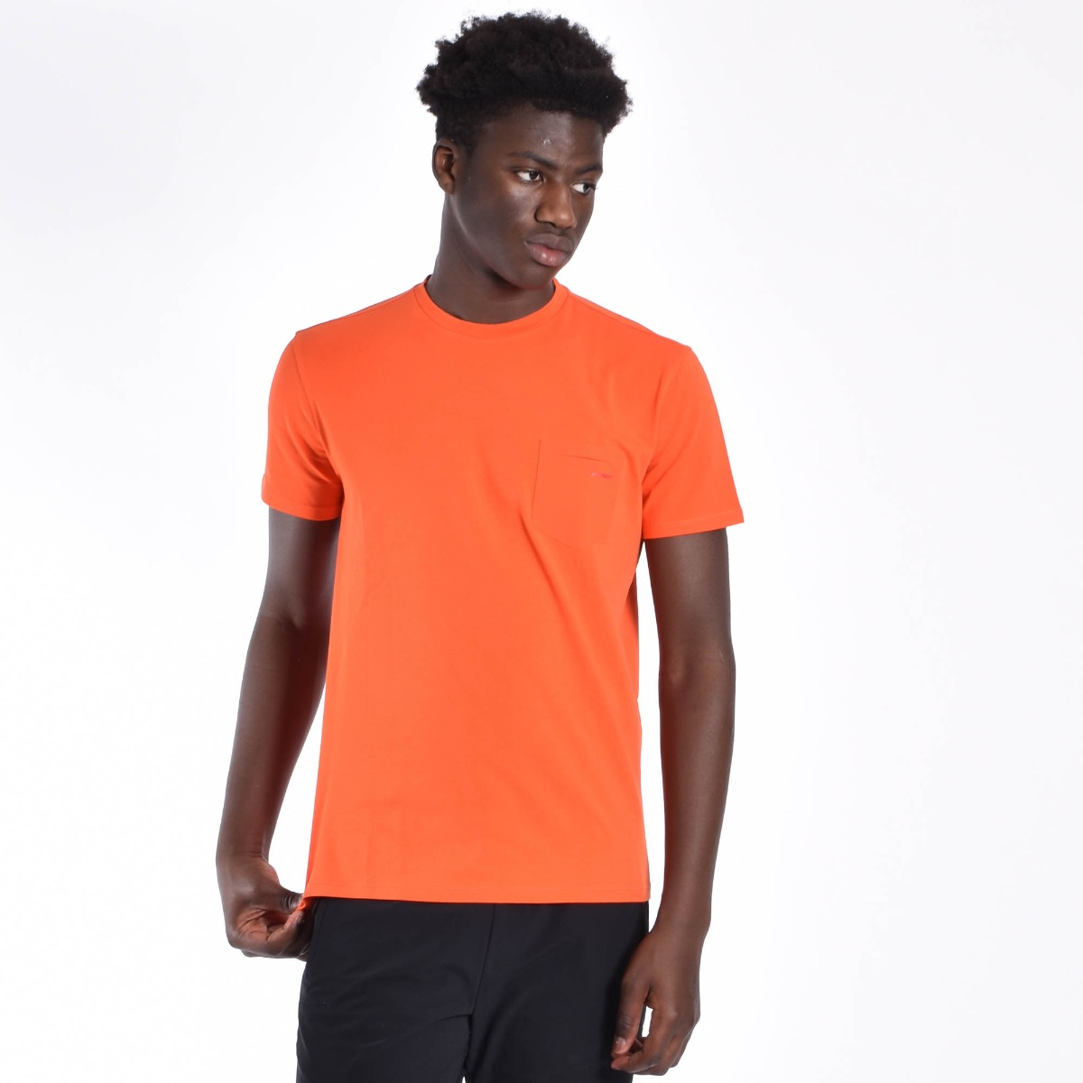 T-shirt con taschino - Arancione
