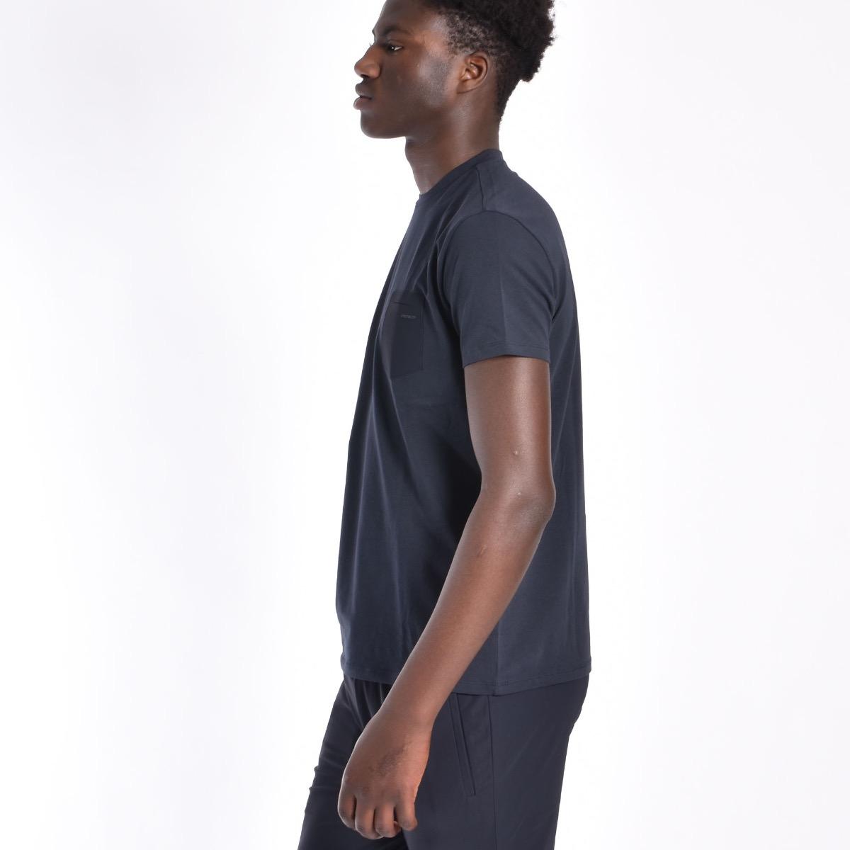 T-shirt con taschino - Blu
