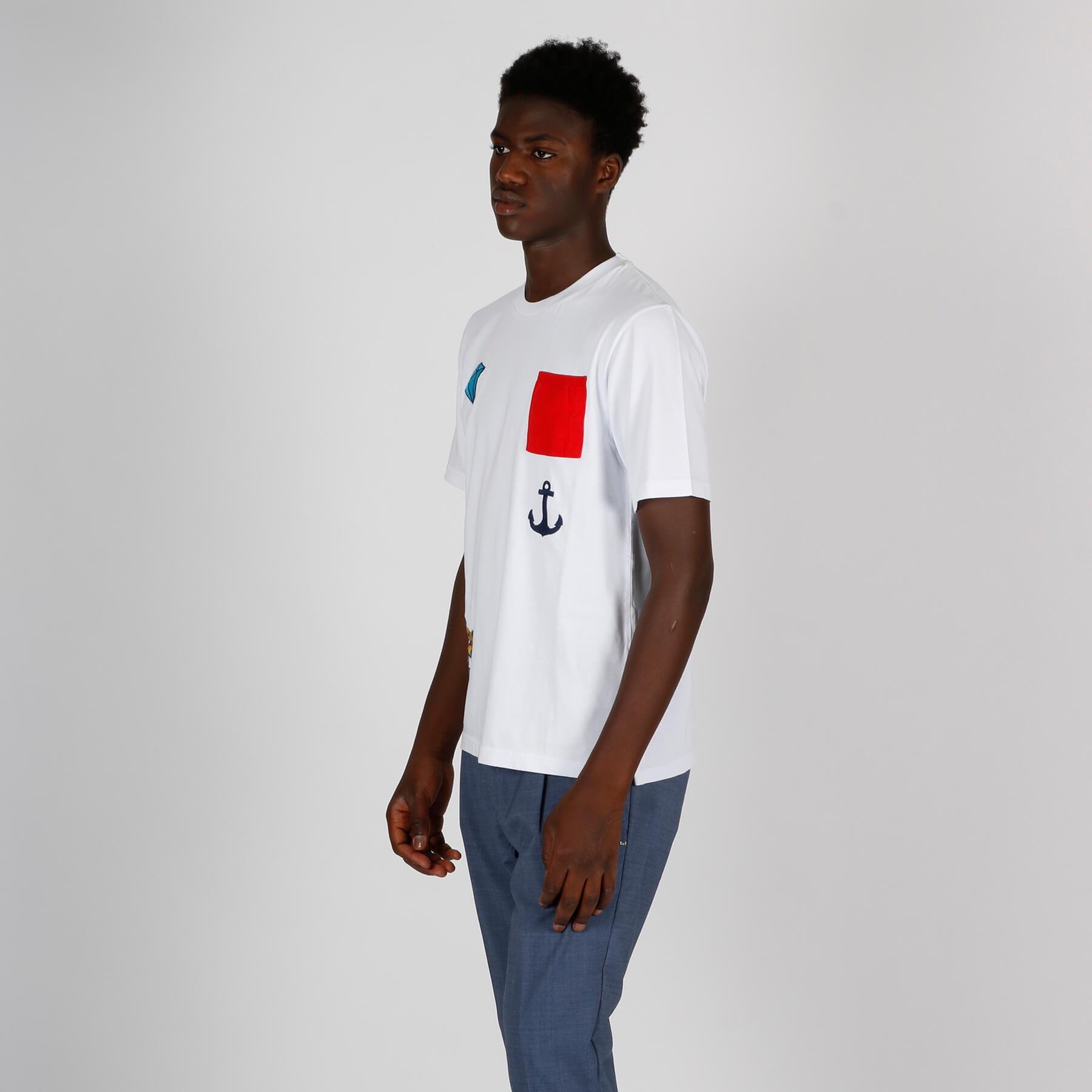T-shirt ricamo - Bianco