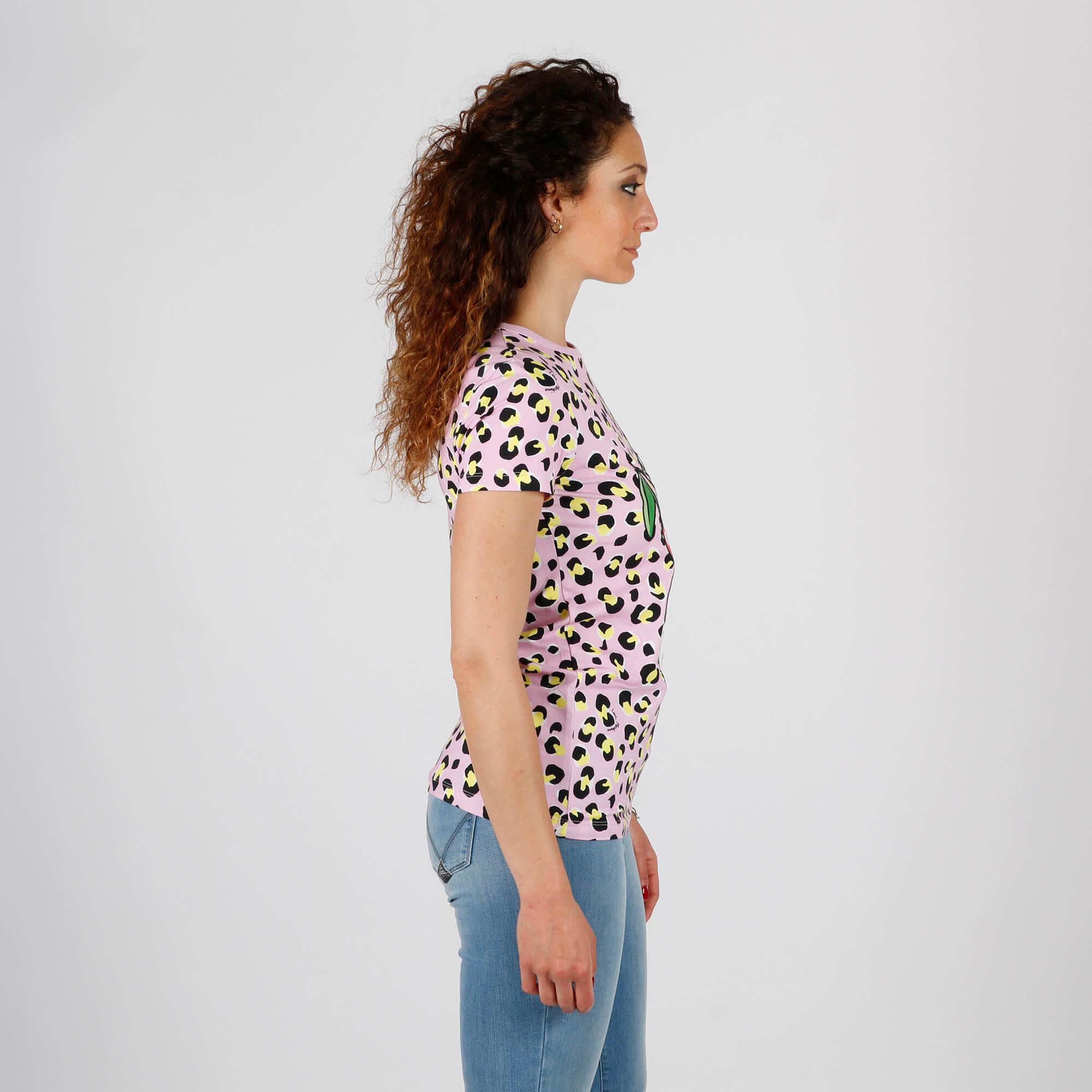 T-shirt donnina panna - Rosa