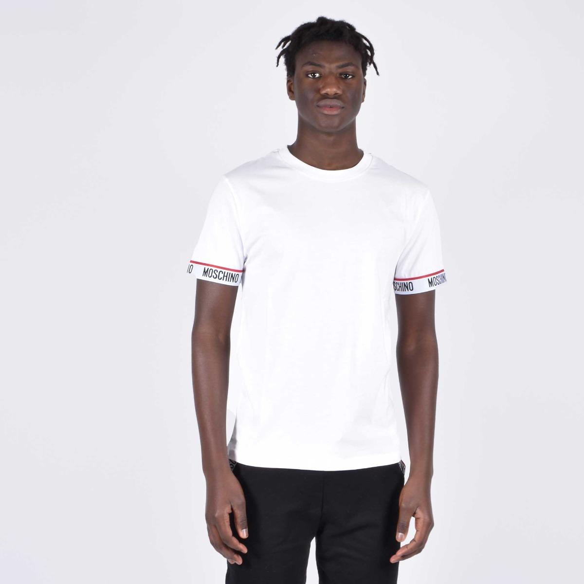 T-shirt  fascia logo manica- Bianco