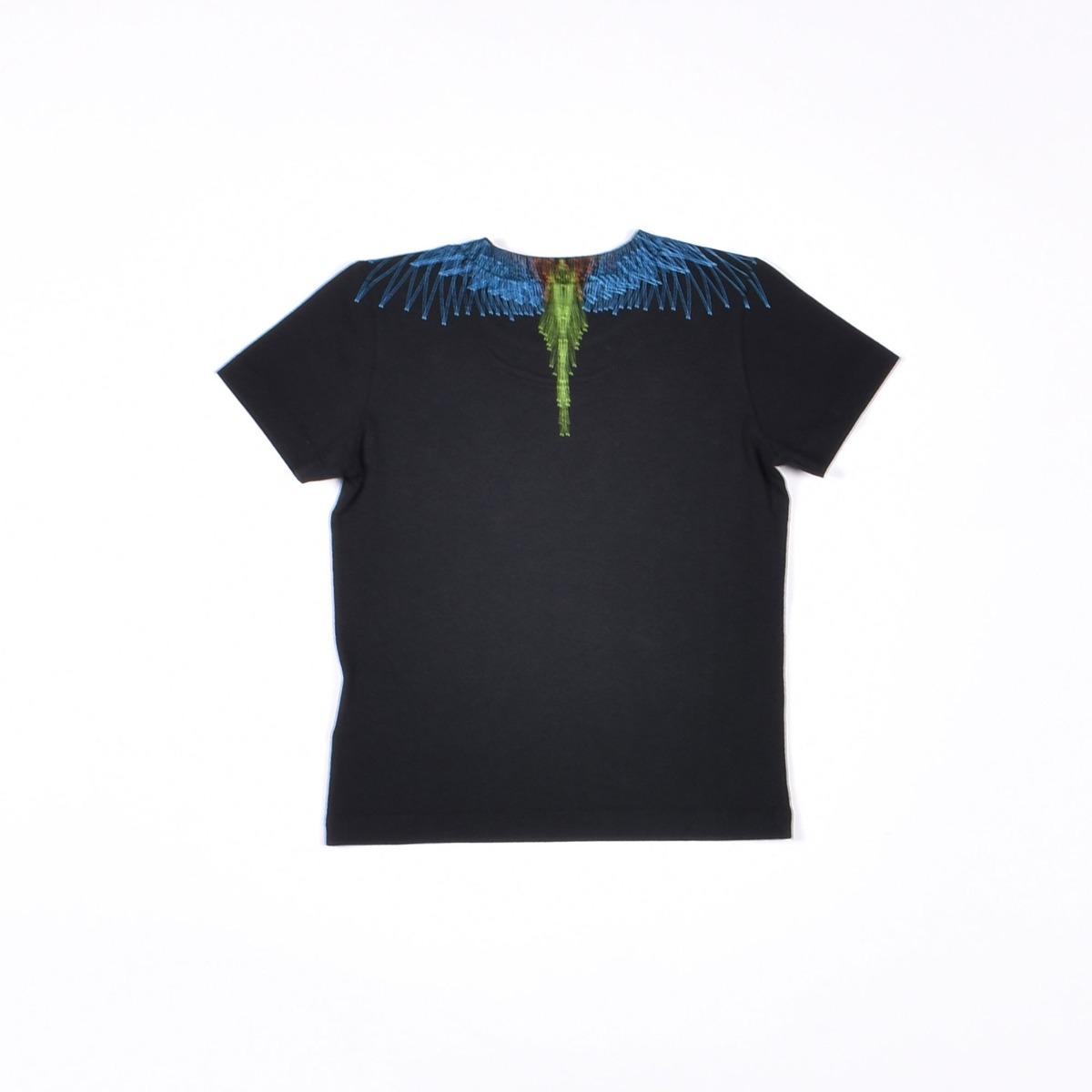 T-shirt neonato stampa fenice- Nero